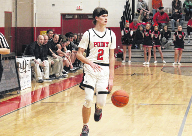 PPHS junior Kyelar Morrow (2) brings the ball up the floor, during the a Jan. 21 game against River Valley in Point Pleasant, W.Va.