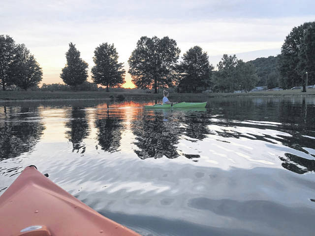 Kayakers at Krodel Park. The park now provides kayak rentals during the summer months.