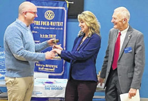 Stowers welcomed as Rotary president