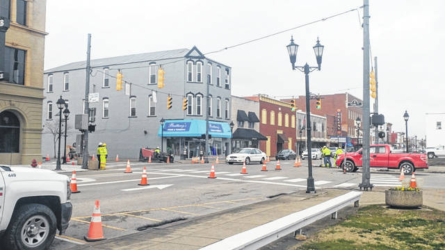 Columbia Gas contracting crews cut across Second Avenue and alongside State Street Thursday as part of the utility company's efforts to improve aging gas line systems.