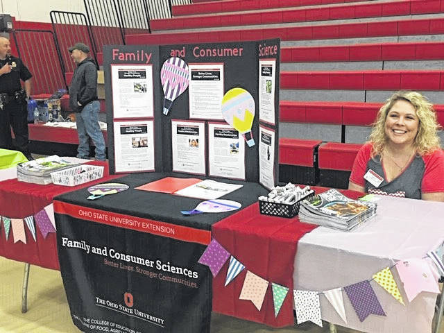 Nancy Sydenstricker with Ohio State University Meigs Extension was a vendor at last year's health fair. Over 30 vendors will be set up to provide information and services at this year's event slated for Tuesday, April 14 at the University of Rio Grande Lyne Center Gymnasium. (Rio | Courtesy Photo)