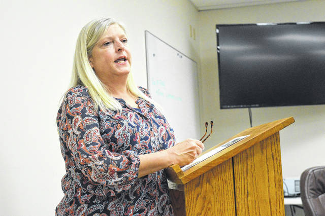 Gallia County 2020 Census Complete Committee Liaison Lori Church addresses the public at a recent Gallipolis City Commission meeting.