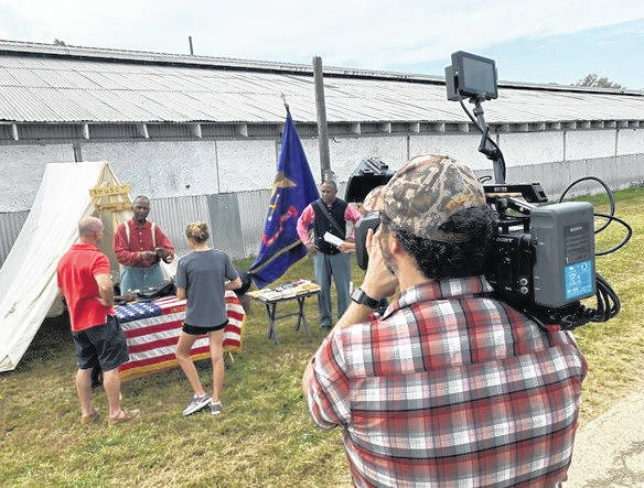 Our Town film crews shoot footage surrounding Gallia historic events, such as the Emancipation Proclamation Celebration.