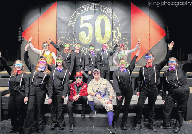 The 50th Gold Anniversary Black Knight Revue has been postponed. Students who will be performing the Rocketman Medley are pictured from left, bottom row: Mati Brown, Annabelle Shrader, Maddy Towner, Mark Kincaid, Brady Sayre, Courtney Campbell, David Bledsoe and Dakota Ward. Top row: Emma Harbour, Madeline Wilcoxen, Bryce Grubb, Joel Foreman, David Kapp and Addy Cottrill.