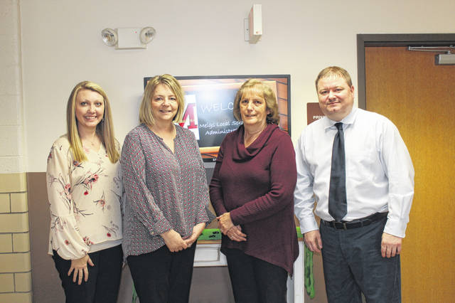 Meigs Local Treasurer/Chief Financial Officer Roy Johnson and staff members Debbie Drake, Beckie Blake and Melissa Lambert.