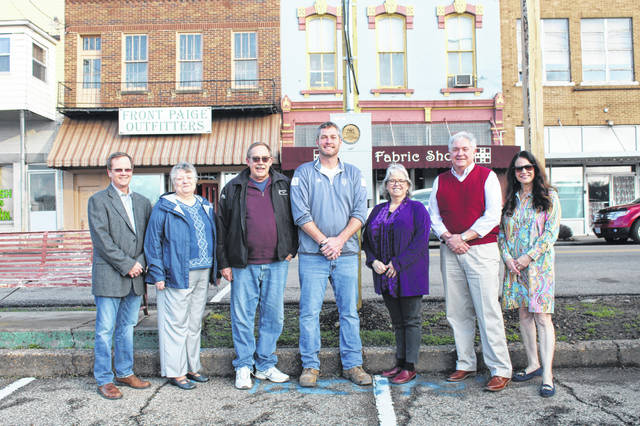 Meigs County Community Fund representatives are pictured with Pomeroy Mayor Don Anderson and contractor Rob Harris. Pictured (from left) are John Hoback, Charlene Rutherford, Anderson, Harris, Linda Warner, Paul Reed and Susan Clark.