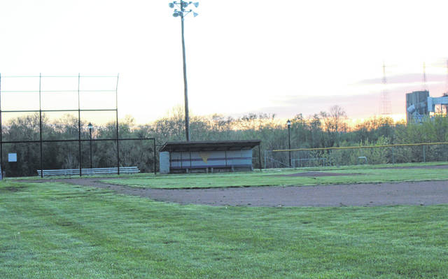 A first base side view of a vacated Star Mill Park in Racine, Ohio, the baseball home of the Southern High School Tornadoes. The 2020 spring sports season officially came to an end on Monday, April 20, when Ohio Governor Mike DeWine announced that the remainder of the 2019-20 school year was cancelled.