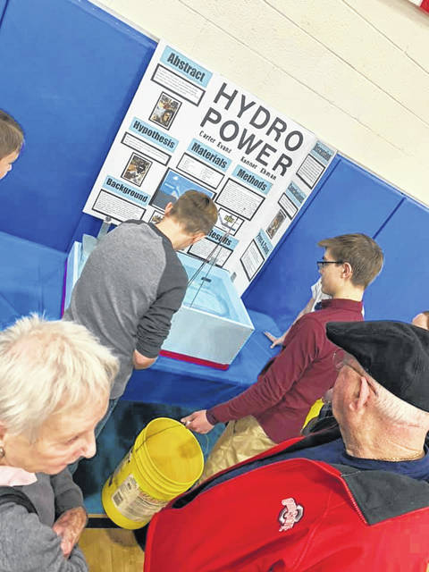 Carter Evans and Konnor Ehman created an engineering and design project which demonstrated the intricacies of hydropower electricity.