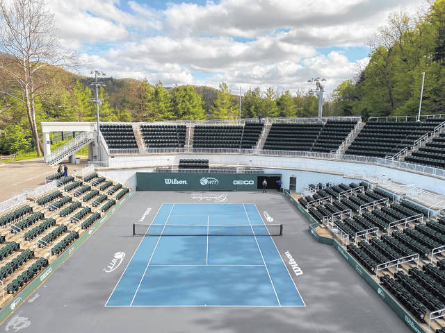 A view of the center court at The Greenbrier, which will host the 2020 World TeamTennis season.