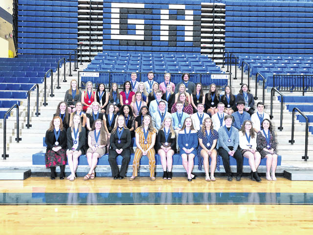 All Gallia Academy High School National Honor Society members are pictured. See story for identifications.