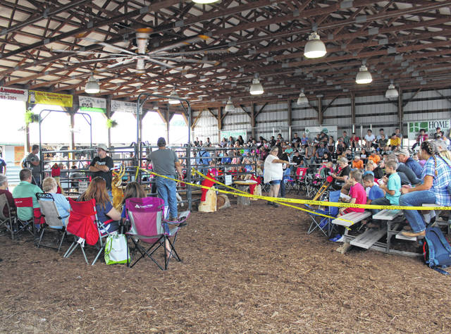 Many local businesses and individuals traditionally gather in the Ridenour Family Livestock Arena for the Meigs County Junior Fair Livestock Sale. Modifications will be made this year in order to ensure social distancing requirements are met.