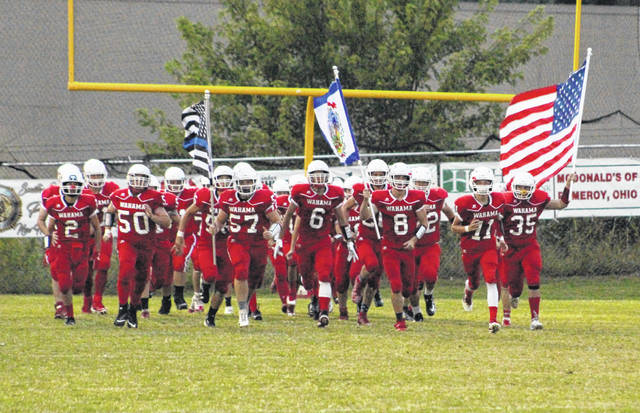The Wahama White Falcons take to the field during the 2019 season. The 2020 season is currently scheduled to begin the week of Sept. 3 following an announcement on Friday by the WVSSAC and Governor Jim Justice.