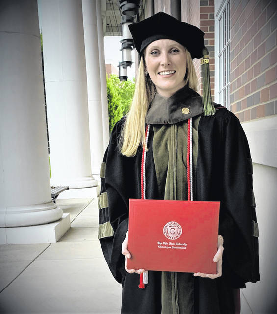 Kendra Lee, daughter of Donald and Christy Lee and granddaughter of Max and Sallie Carsey and Robert and Donna Lee graduated from The Ohio State University College of Pharmacy PharmD Class of 2020. Dr. Lee graduated with honors via a virtual doctoral convocation in May 2020. She is currently a pharmacist with the Rite Aid Corporation.