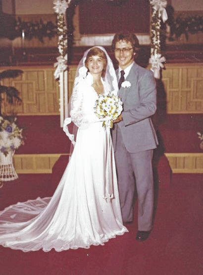 """Dennis and Cindy (Patterson) Wolfe, pictured, are celebrating their 40th anniversary. According to the couple, """"after several years of asking Cindy out for a date he finally wore her down."""" Less than a year later they were married on Aug. 8, 1980 in Racine, Ohio. They have one son, Brandon Wolfe of Athens, Ohio. The couple have resided in Racine for the last 35 years. (Courtesy Photo)"""