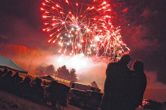 """The popular """"Rockets over Rio"""" fireworks display is held on the campus of the University of Rio Grande each October. This year's event has been canceled with plans to return in 2021. (OVP File Photo)"""