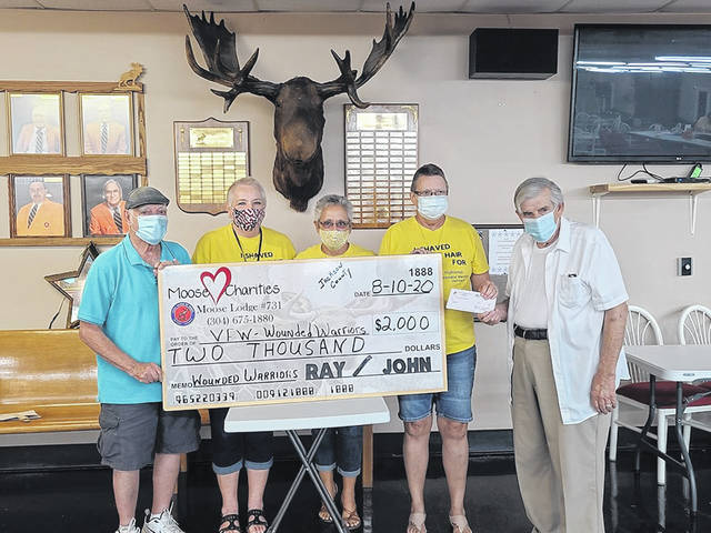 The Moose Lodge #731 and the Mason VFW Post 9926 auxiliary raised $2,000 on Monday evening for the Jackson County Wounded Warriors.