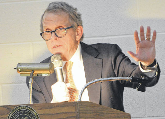 Gov. Mike DeWine is pictured during a 2018 visit to Gallia County. (OVP File Photo)