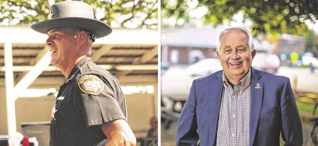 Pictured at left, Republican incumbent Sheriff Matt Champlin and, at right, Democrat challenger Jimmy Spears. (Courtesy)