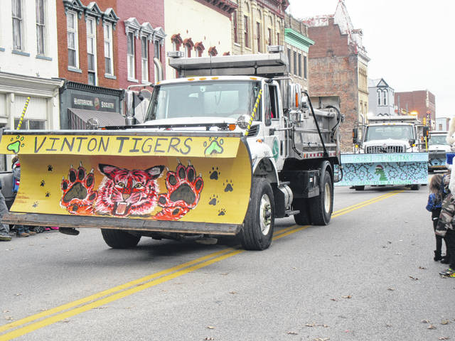 Snow plows will soon be on the roadways clearing ice and snow as winter arrives. The Gallia ODOT garage painted plows and took part in last year's Gallipolis Christmas Parade, pictured.