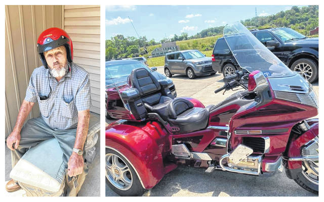 Kenneth Hayes and the motorcycle he was last seen on.