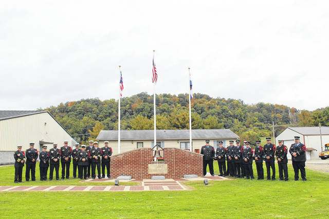 Firefighters recently dedicated the Gallipolis Fire Department's Memorial Wall.