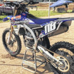 Authorities searching for stolen dirt bike
