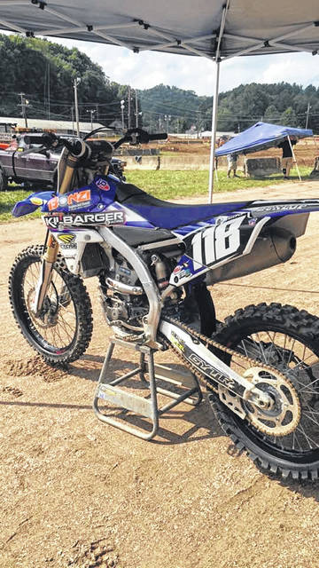 The dirt bike pictured here was stolen on Monday in the Long Bottom area of Meigs County. The bike belonged to the late Justin Hill. A $1,000 reward has been offered for the return of the bike.