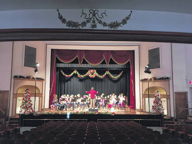 This year's TubaChristmas performance at the Ariel Opera House was canceled due to the pandemic. The Ariel has compiled a video of past performances for sharing during the Christmas season. Pictured are musicians preparing for a previous TubaChristmas prior to the pandemic. (Ariel Opera House | Courtesy)