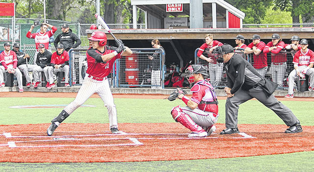 Rio Grande's Clayton Surrell, left, was among those named to the 2020 NAIA Baseball Coaches' Association Preseason All-America Team on Wednesday by the NAIA-BCA All-American Committee.