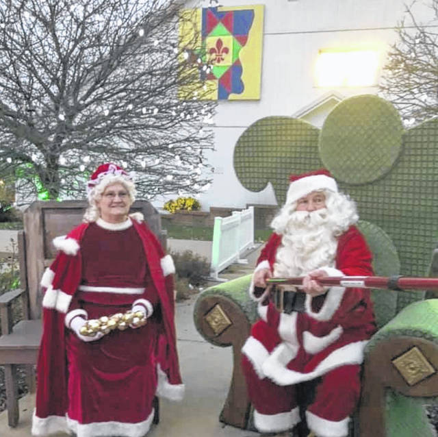 Guests were greeted by Santa and Mrs. Claus at the end of their Christmas journey through the displays