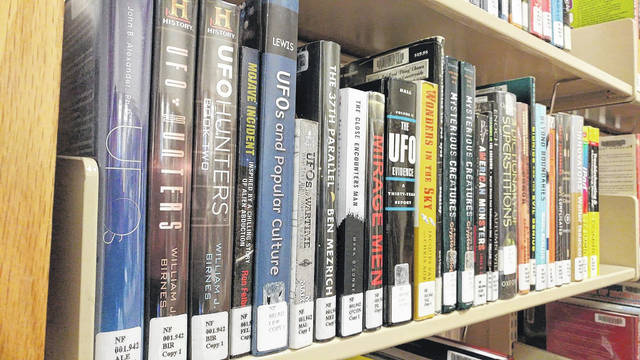 The Bossard Memorial Library is currently hosting its adult winter reading program, offering patrons an opportunity to win prizes for their efforts. Selections at the library run the gamut from popular fiction to even books on UFOs. (OVP File Photo)