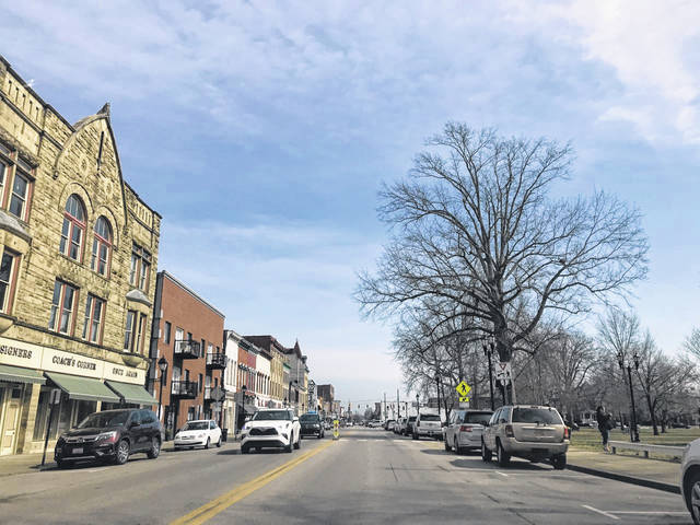 Pictured is a sunny day in downtown Gallipolis on Thursday. Food trucks setting up in the downtown area near the Ohi River was a topic at this week's meeting of Gallipolis City Commission. (Beth Sergent | OVP)