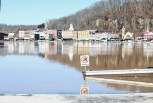 Roadways flooded… Ohio River projected to crest Wednesday morning