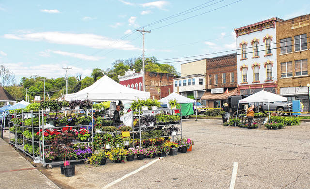 Numerous vendors will be set up for the opening day of the Meigs County Farmers' Market.