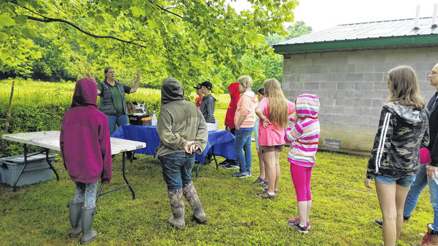 Campers take part in a past Watershed Camp event.