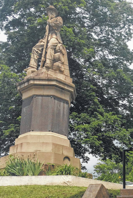 The Civil War Monument is located next to the Meigs County Courthouse.