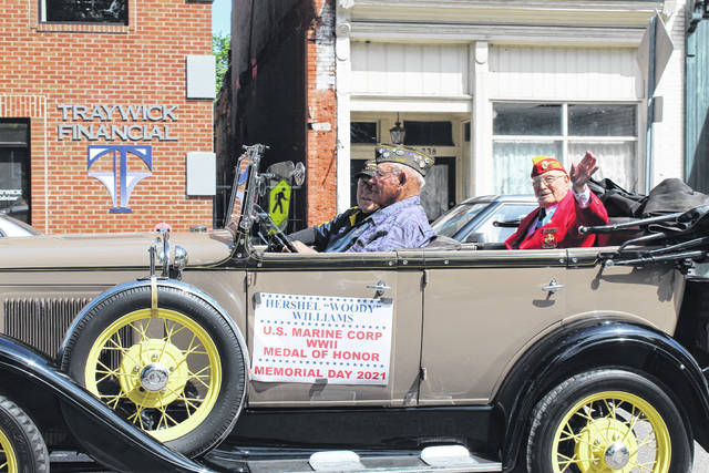 """Medal of Honor recipient Hershel """"Woody"""" Williams was the grand marshal of this year's Gallipolis Memorial Day Parade."""