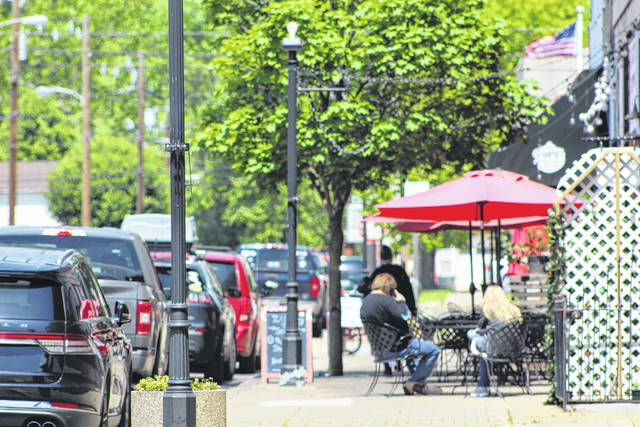 Gallipolis City Commission will be asking city merchants, restaurants and the public for additional comments on possible new guidelines relating to mobile vendors in the city. Pictured is a view from Court Street in downtown Gallipolis on a recent sunny afternoon.
