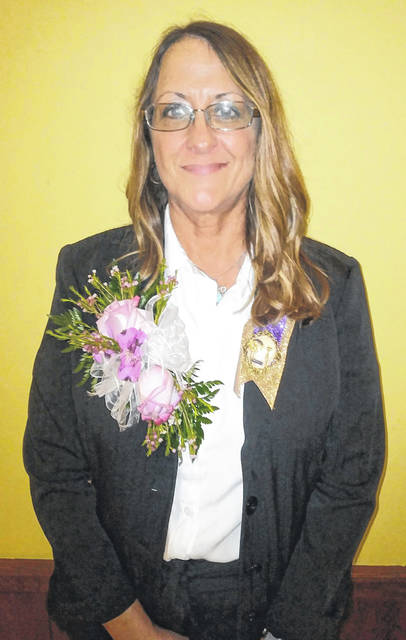 Pictured is Beth Stewart, outgoing president of Gallipolis Emblem Club #199.