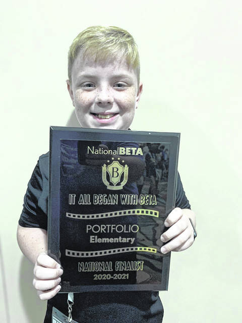 In addition to Hayden Whitt's recognition, Southwestern Elementary also placed eighth in the Portfolio Competition at the National Elementary Beta Convention. Southwestern has been recognized as a Beta Club School of Distinction the last two years.