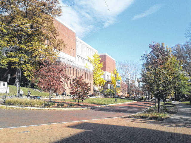 Ohio University's Alden Library is pictured in this 2017 file photo.
