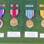 WWII soldier's medals displayed