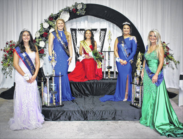Erin Pope, pictured seated, has been named the 2021 Miss Gallia County. Pope was joined in her royal court by First Runner-up Sydnee Runyon; Second Runner-up Jerah Sharee Justice; Third Runner-up Ellen Weaver<strong>; </strong>Fourth Runner-up Gracie Thomas.
