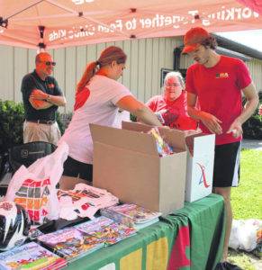 Food, sports items provided to kids