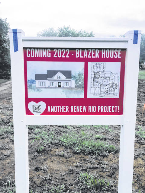 New signs have started to go up with completion dates and layout plans. The Blazer House will be one of the first homes started.