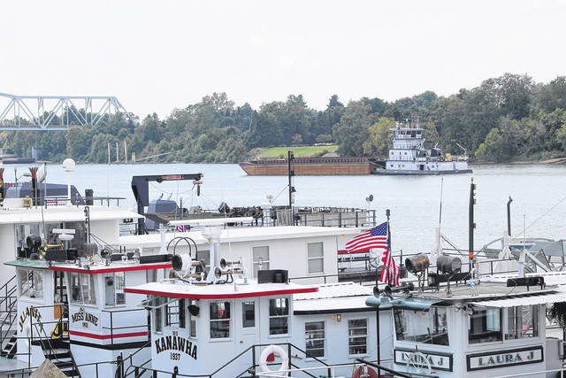 The annual Tribute to the River festival in Point Pleasant returns to celebrate life along the river, Sept. 3-4. Pictured is a festival scene in 2019 at Riverfront Park in Point Pleasant with several sternwheelers and Gallia County in the background.