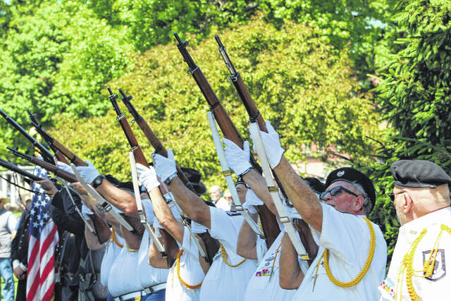 The VFW 4464 Honor Guard offers a gun salute for the fallen at this year's Memorial Day Ceremony at Gallipolis City Park. The Veterans of Foreign Wars (VFW) of Gallipolis, in conjunction with the Gallia County Veterans Honor Guard, are presenting its inaugural Veterans Hill fundraiser and recruitment drive this weekend.