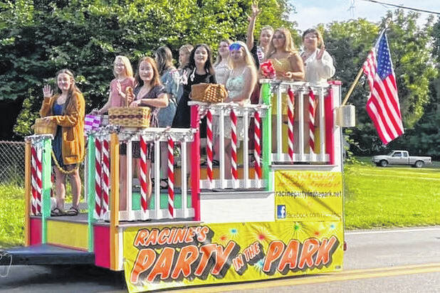 Pictured from the Party in the Park Parade, 2019 Queen Mickenzie Ferrell and 2021 queen candidates Lily Allen, Diamond Call, Kayla Evans, Isabella Fisher, Logan Greenlee, Molly Hill, Rachel Jackson, Jacelynn Northup, Kelly Shaver, Ally Shuler.