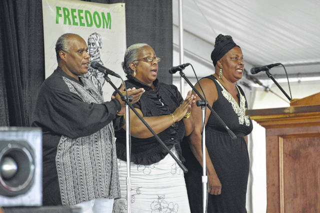 The Geiger Family leads gospel singing during a past Emancipation Celebration which returns this Saturday and Sunday, with in-person and outdoor activities, at the Gallia County Jr. Fairgrounds.