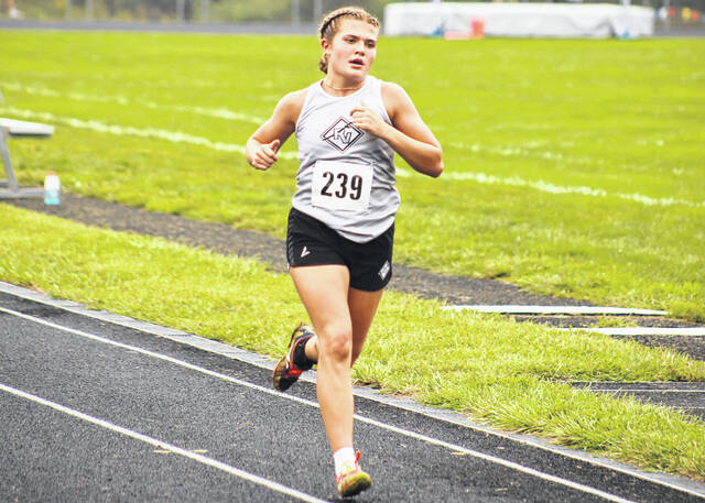 River Valley senior Lauren Twyman finished first overall in the girls race at the Skyline Lanes Invitational Wednesday in Bidwell, Ohio.